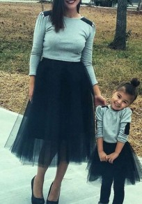 Black Grenadine Fluffy Puffy Tulle Plus Size Homecoming Party Cute Sweet Skirt