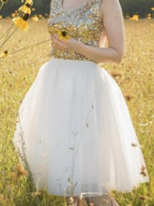 White Grenadine Draped Fluffy Puffy Tulle Homecoming Party Sweet Skirt