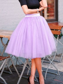 Pink Grenadine Plus Size Pleated Fluffy Puffy Tulle Tutu Homecoming Party Skirt