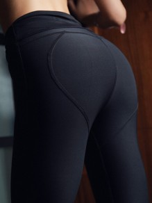 Black High Waisted Yoga Sports Skinny Long Legging