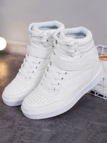 White Round Toe Within The Higher Casual Shoes