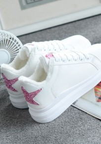 White Round Toe Star Fashion Shoes