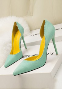 Green Point Toe Stiletto Fashion High-Heeled Shoes