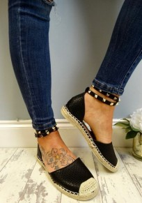 Black Round Toe Rivet Fashion Ankle Shoes
