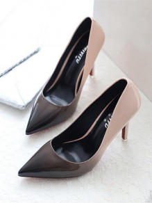 Apricot Point Toe Stiletto Gradient Fashion High-Heeled Shoes