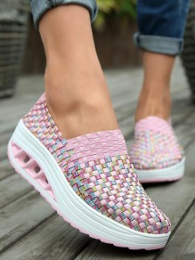 Pink Round Toe Fashion Ankle Shoes