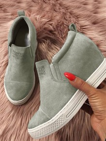 Green Round Toe Flat Fashion Shoes