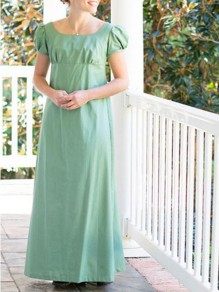 Green Patchwork Draped Buttons Short Sleeve Fashion Maxi Dress