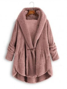 Pink Bodycon Comfy Long Sleeve Going out Outerwear