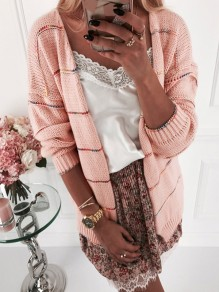 Pink Bodycon Comfy Long Sleeve Ttrendy Going out Sweater