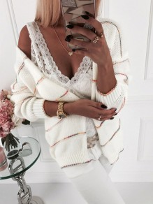 White Bodycon Comfy Long Sleeve Ttrendy Going out Sweater