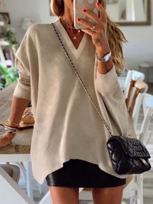 Khaki Going out Comfy Sweet Fashion T-Shirt