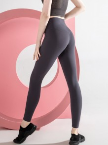 Grey Yoga Sports High Waisted Skinny Long Legging