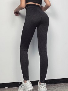 Black High Waisted Yoga Sports Long Legging