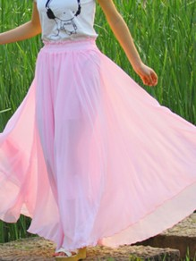 Violet Pleated High Waisted Grenadine Ruffle Fluffy Puffy Tulle Sweet Skirt