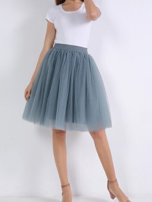 Nacy Blue Layers Of Grenadine Fluffy Puffy Tulle Chiffon Homecoming Party Short Princess Skirt
