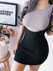 Black Bodycon New Fashion Latest Women Homecoming Party Overall Skirt
