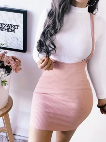 Pink Bodycon New Fashion Latest Women Homecoming Party Sweet Overall Skirt