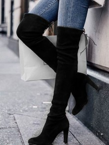 Black Point Fashion High-Heeled Over-The-Knee Boots