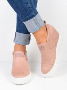 Pink Round Toe Fashion Casual Flat Shoes