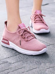 Pink Round Toe Flat Fashion Casual Shoes