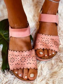 Pink Round Toe Casual Fashion flat Sandals