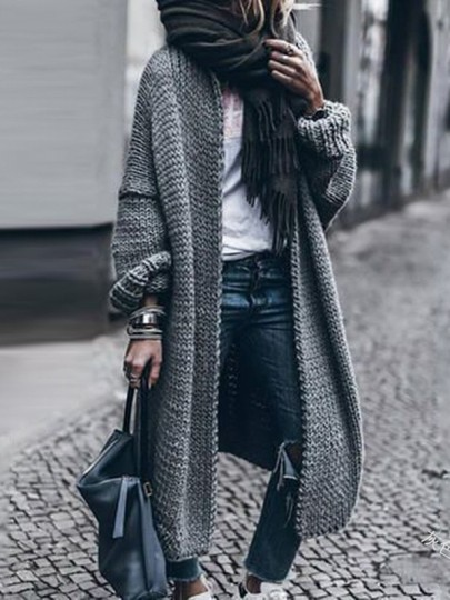 Grey Bodycon Comfy Long Sleeve Going out Sweater