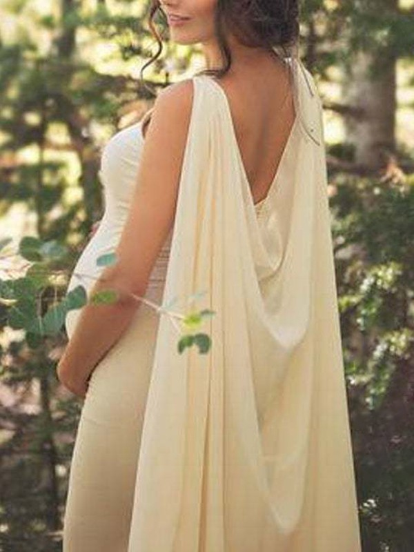 Apricot Patchwork Long Cape Backless V Neck Sleeveless Mermaid For Babyshower Flowy Maxi Maternity Dress Maternity Dresses Women S Maternity