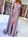 Purple Patchwork Lace Spaghetti Strap Backless Draped Square Neck Fashion Maxi Dress