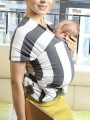 Grey Striped Knot Round Neck Sleeveless Casual Maternity Vest