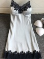 Grey Patchwork Lace One Piece Honey Girl Loungewear Lounge Dress